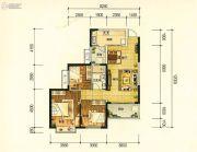 昆明・恒大名都3室2厅1卫101平方米户型图