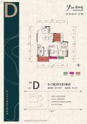 银港国际2室2厅2卫110平方米户型图