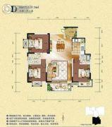 旺佳・华府3室2厅2卫127平方米户型图