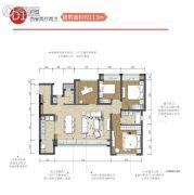 华熙528艺术村4室2厅2卫113平方米户型图