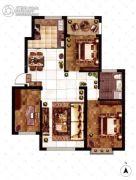 大成门3室2厅1卫117平方米户型图