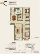 旭洋・城市风景4室2厅2卫149平方米户型图