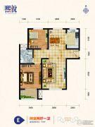 熙悦2室2厅1卫99平方米户型图