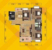 奥林花园3室2厅2卫116平方米户型图