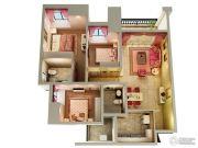 融汇半岛玫瑰公馆3室2厅2卫0平方米户型图