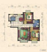 力旺康城2室2厅1卫85平方米户型图