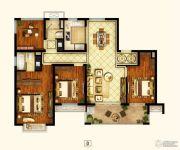 招商1872公园里4室2厅2卫138平方米户型图