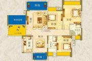 枫�Z美地园3室2厅2卫118平方米户型图