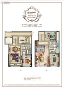 百悦城4室2厅3卫115平方米户型图