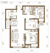 保利・领秀山3室2厅1卫93平方米户型图