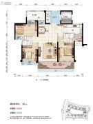 碧桂园・滨江壹号3室2厅2卫119平方米户型图