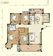 航宇・香格里拉4室2厅2卫160平方米户型图