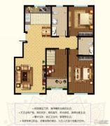 东郡3室2厅2卫130平方米户型图