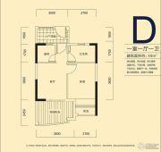 君和君泰1室1厅1卫49平方米户型图