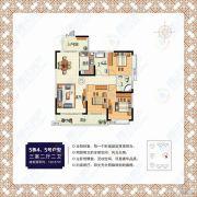 书香华庭3室2厅2卫122平方米户型图