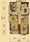 香樟美地3室2厅2卫133平方米户型图