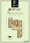 翠岛天成2室2厅1卫94平方米户型图