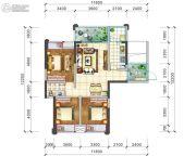 阳光西雅图3室2厅1卫106平方米户型图