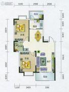 艺海苑2室2厅1卫91平方米户型图