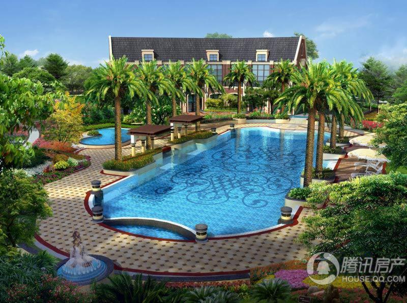 海高伦美林国际社区内庭泳池