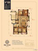 赞成名仕府4室2厅2卫125平方米户型图
