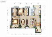 恒基碧翠锦华5室2厅4卫220平方米户型图