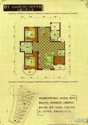 御龙仙语湾3室2厅2卫138平方米户型图