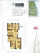 镜水蓝庭2期IN豪庭4室2厅2卫126平方米户型图