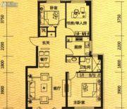 际盛・紫郡河畔花园3室2厅1卫0平方米户型图