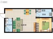 阳光100国际新城1室2厅1卫63平方米户型图