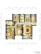 明天华城3室2厅2卫137平方米户型图