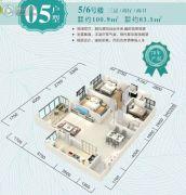 香樟林语3室2厅2卫100平方米户型图