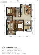 东湖方舟3室2厅2卫127平方米户型图