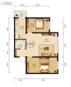 学府经典2室1厅1卫0平方米户型图