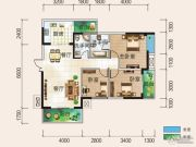 清风华园3室2厅2卫106平方米户型图