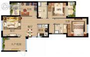 俊发・观云海3室2厅2卫0平方米户型图