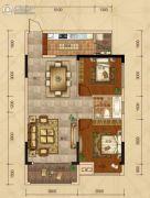 广汇・圣湖城2室2厅1卫81平方米户型图