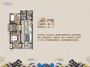 正大万物城3室2厅1卫91平方米户型图