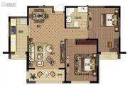 新湖印象江南二期2室2厅1卫102平方米户型图