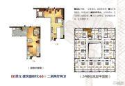 蓝波湾2室2厅2卫44平方米户型图