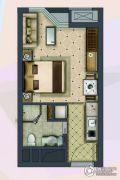 盐仓新天地1室2厅1卫35平方米户型图