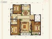 绿城百合花园紫薇园二期3室2厅2卫141平方米户型图