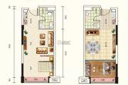 天奕国际广场1室1厅1卫47平方米户型图