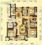 拓鑫新景家园4室2厅2卫135平方米户型图