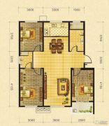 御景园3室2厅2卫109平方米户型图