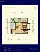 天宁小筑1室1厅1卫53平方米户型图