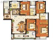 华强城4室2厅2卫160平方米户型图