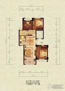 漫城公寓3室2厅1卫112平方米户型图