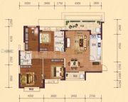 恒大御府4室2厅2卫145平方米户型图