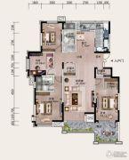 铂金汉城4室2厅2卫0平方米户型图